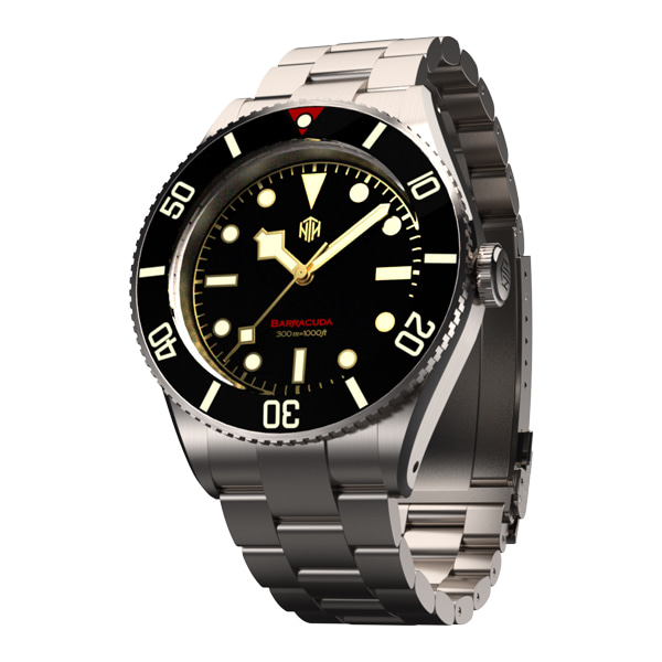 Barracuda Vintage Black Non-Date